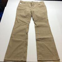Loft Modern Boot Tan Corduroy Pants Size 16 New A929