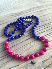 Lapis Lazuli Beaded Fine Necklaces & Pendants