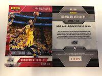 2017 17-18 PANINI INSTANT NBA #166 DONOVAN MITCHELL RC ALL-ROOKIE TEAM #/279