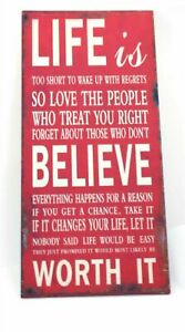 Tin Plaques for Life - Life is...