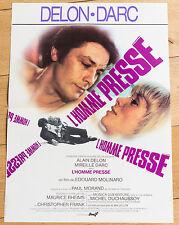 Affiche de cinéma : L'HOMME PRESSÉ de PAUL MORAND - ALAIN DELON