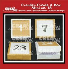 Stanz-schablone Cutting die Create Mini No.18 Advents-box Zahlen CREAlies CCAB18