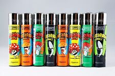 8 pcs New Refillable Clipper Lighters Mushrooms Design