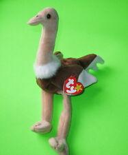 Stretch Ty Beanie Baby Ostrich Bird MWMT Birthdate September 21 1997 Style #4182
