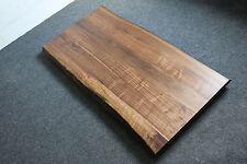 Tischplatte Platte Nussbaum Platte Massiv Holz mit Baumkante NEU Leimholz Brett