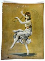 Young Dancing Girl Jugend Magazine 1904 Issue 38 Jugenstil Art Nouveau graphics