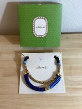 Stella & Dot Gold Tone Blue & Gold Rope Necklace