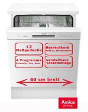 Amica Geschirrspüler Freistehend Spülmaschine 60cm 12 Gedecke Unterbaufähig