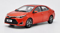 1/18 Scale Toyota Levin Corolla 2017 Orange Diecast Car Model Toy Collection