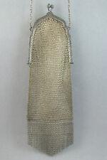 Antique c1910 Edwardian Whiting & Davis Purse Silver Mesh Chain Mail Handbag