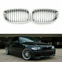 Frontal Valla Parrilla Rejilla ABS Chrome Mesh Para BMW E46 2D 2003-2005 3-Serie