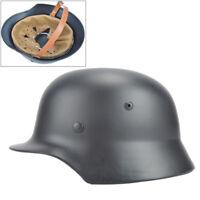 Gray WW2 German Elite WH Army M35 M1935 Steel Helmet Stahlhelm Retro Greatful
