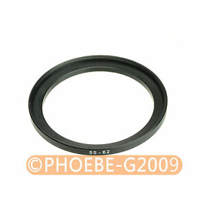 55mm to 62mm 55-62 mm Step Up Filter Ring Adapter
