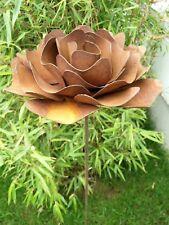 Edelrost Gartenstecker GartenBlumen Rost Blumen Beetstecker Gartendeko H110*24cm