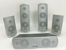 New listing Panasonic Sb-Fs731 Sb-Fs730 Sb-Pc730 Speaker System 5pc Surround Sound Gray