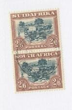 SOUTH AFRICA # 44 VF-PAIR SON 2/6d CAT VALUE $225