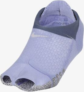 NWT Nike NikeGrip Womens Studio Toeles Footie Lightweight Socks Moisture Wicking