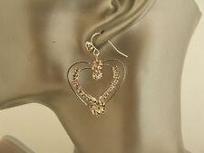Bling Sparkly Diamante/Rhinestone Large Heart Dangle Earrings SALE