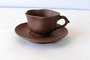 "Vintage Tea Cup Saucer Earthen Handmade Mitti Terecotta Ceramic Natural Clay ""F3"