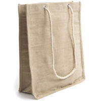 High Quality Jute / Hessian Shopping Bags Bag Tote Bags with Long Rope Handles