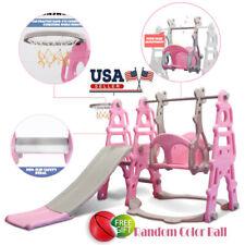 Swing Set For Small Yard Backyard Playground Slide Fun Playset Toddler Kid Home