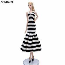 "Zebra Fashion Doll Dress For 11.5"" Doll Clothes Mermaid Fishtail Outfit Gown 1/6"