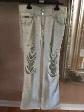 Dolce Gabbana Low Rise Womens Distressed Womens Jeans 42 Made in Italy RARE!!