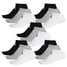 15 Par Adidas Rendimiento No Show Zapatillas Calcetines Talla 35-54 Unisex Sock