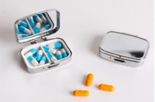 Tablet Small Pill Holder Medicine Metal Case Container