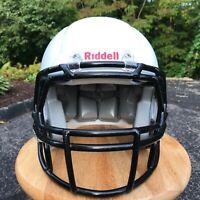 RIDDELL Youth Football Helmet Medium White / Black  Recertified 2019