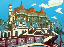 East Cliff Hall - Original Linocut Limited Edition Signed