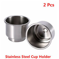 2Pcs Stainless Steel Cup Drink Bottle Holder Base For Car Marine Boat RV Camper