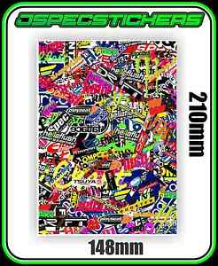 STICKERBOMB SHEET PRINTED VINYL DRIFT JDM WRAP STICKER BOMB RC DECAL A5 CAR
