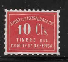 SPAIN     TORRALBA     SOFIMA 1     MINT HINGED      SPANISH CIVIL WAR