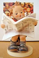 Hum #184 Latest News Tm6 Goebel M.I. Hummel Figurine Germany Mib $370 J991