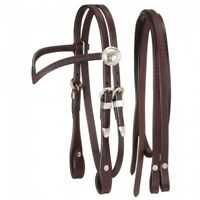 King Series Miniature V Browband Headstall w/Silver Bridle Horse Tack 42-7680