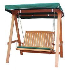 MILTON -  Dondolo a 2 posti in legno tropicale, 166x178,5x117,5 cm