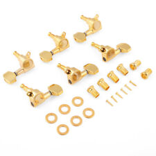 Gold Enclosed Guitar String Tuning Peg Enclosed Machine Head Tuner Set Of 3L3R