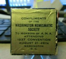 1937 GEORGE WASHINGTON ANA NUMISMATIC SOCIETY CONVENTION WAS D.C. medal handout