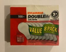 Sylvania 100W Double Life Soft White Light Bulbs ~ 8-Pack