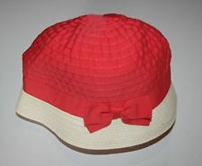 New Gymboree Girls Colorblocked Cloche Hat 6-12 Months Cherry Blossom Coral