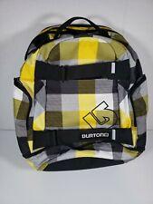 BURTON Snowboard Boarding Skateboard Hiking Backpack Laptop Bag Plaid Print