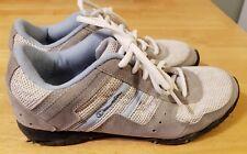 Champion women's white/grey/light blue sneakers shoes - size 8 1/2 -VGUC