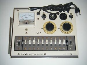Vintage Knight 400 Tube Checker Tester Allied Radio Chicago (AS-IS Untested)