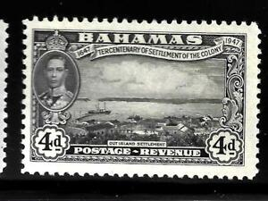 HICK GIRL-OLD MINT BAHAMAS  SC#138   KING GEORGE VI.  ISSUE 1948    X1497