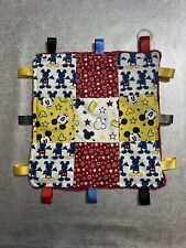 Mickey Mouse Patchwork Homemade 24cm Square Comforter Taggie Inc Dummy Adapter
