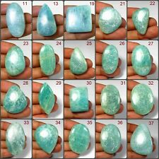 NATURAL SPARKLE AMAZONITE CABOCHON MIX SHAPE LOOSE GEMSTONE VARIATIONS AN#1