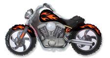 "Black Motorcycle 45"" Balloon Birthday Party Decorations Harley Hog"