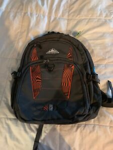 Sierra Expedition 20 inch Cymba Backpack - Orange/Grey Back to School - laptop