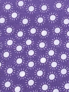 Purple Floral Fabric Fat Quarter 100% Cotton Fabric In The Beginning 2006